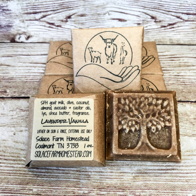 Sample-Size Goat Milk Soap, Tree-Shaped