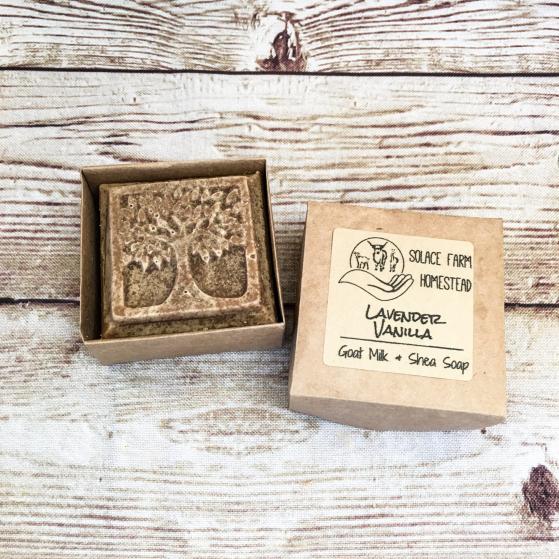 Tree-Shaped Soap in Open Paper Box