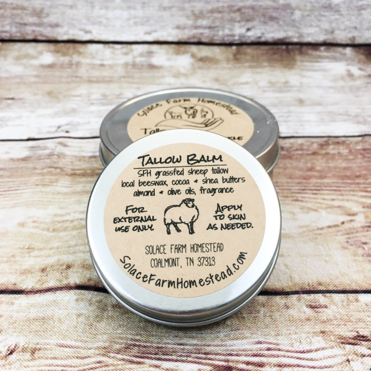 Ingredients Label for Sheep Tallow Balm