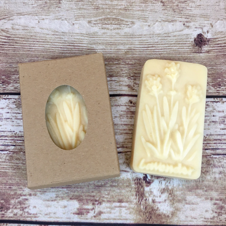 Goat Milk Lard Soap, Lavender, Boxed and Unboxed