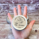 2.5 oz Tallow Body Balm Tin in Woman's Hand for Size