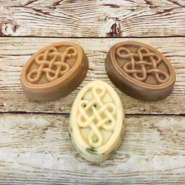 Goat Milk & Pastured Lard Soap, Celtic Knot Pair, 2-Pack Variety Sampler Set of Handmade Goat Milk Soaps with Local Lard