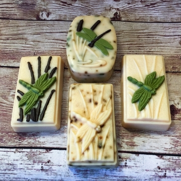 Goat Milk Soap with Pastured Lard, Eucalyptus Mint Essential Oils, Dragonfly Soap