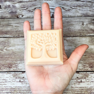 Goat Milk Lard Soap, Lavender Anise Patchouli Molded Bar Soap with Farm Goat Milk and Pastured Lard, Tree of Life Old-Fashioned Lard Soap