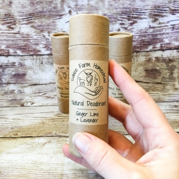 All-Natural Deodorant, Clay-Based Baking Soda-Free Talc-Free Aluminum-Free Deodorant with Essential Oils