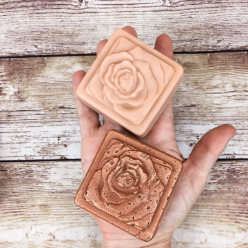 Goat Milk Soap with Grass-fed Tallow & Pastured Lard, Patchouli Rose Essential Oil Soap, Handmade Rose and Celtic Knot Soaps