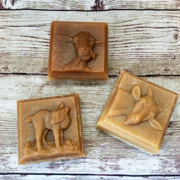 Goats Milk Shampoo, Unscented Solid Shampoo Bar with Lard & Duck Egg Yolks - Fragrance-Free Goat Milk Soap for Dry Skin or Sensitive Skin
