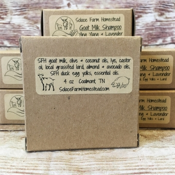 Goats Milk Shampoo, with Lard & Duck Egg Yolks - Moisturizing Goat Milk Soap Shampoo Bar, for Dry Skin or Sensitive Skin
