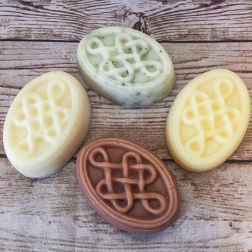Vegan Soap Celtic Knot Pair, 2-Pack Sampler of Olive Oil & Shea Butter Handmade Vegan Soap
