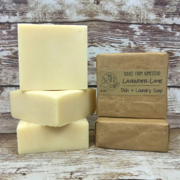 Dish Soap, Bar - Handmade Kitchen Soap with Coconut Oil and Pastured Lard