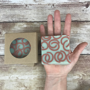 Old-Fashioned Lard Soap, Rosemary Fig Curl Soap - Old-Fashioned Lard Soap for Gifts, Naturally Colored Real Soap for Women, Great for Gifts and Everyday