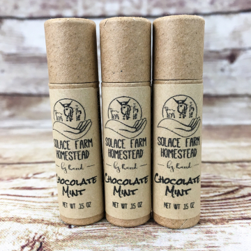 Handmade Tallow Lip Balm, Paper Eco-Tube, Plastic-Free - Natural Nourishing Lip Balm in in Recyclable, Compostable Paper Eco-Tube Packaging
