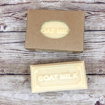 Unscented Handmade Goat Milk Soap - Fragrance-Free, All-Natural Handcrafted Farm Soap with Our Own Goat Milk, for Sensitive and Allergy Skin
