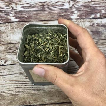"Fig Leaf & Mint Herbal Tea, ""Imagination"" Tea, 2 Oz Metal Tin or Paper Tin-Tie Refill Bag"