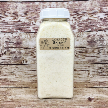 Pre-Shredded Soap for DIY Laundry Powder - Unscented Old-Fashioned Lard Soap for Making Powder or Liquid Laundry Soap