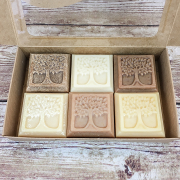 Goat Milk Soap, Tree of Life Boxed Set - 6-Pack Variety Sampler of Handmade Goat Milk Soaps