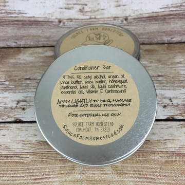 Conditoner Bar, Handmade Solid Conditioner & Detangler Bar
