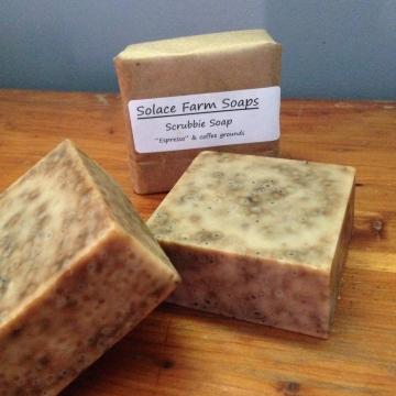 Classic Lard Soap, Espresso Scrub - Mechanics Soap for Gardeners, Coffee Scrub Soap for Men