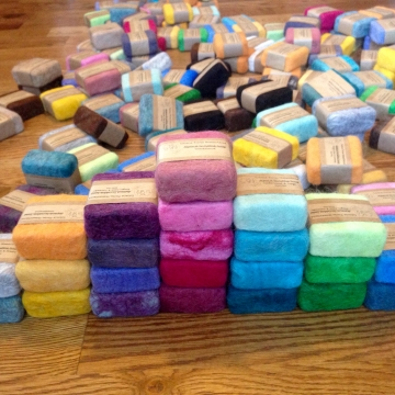 Alpaca Felted Soap 4 oz - Hand-Dyed Felted Soap, Goat Milk & Vegan Soap, Natural Alpaca Wool Felted Scrubbie Soaps
