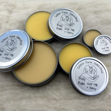 Body Balm, Vegan & Vegetarian Friendly Solid Lotion, Hand & Lip Balm