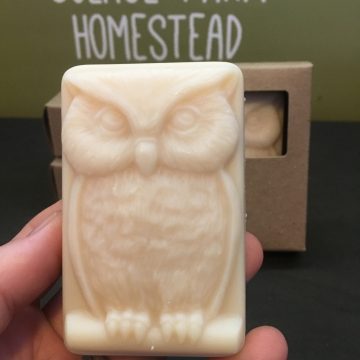 Handcrafted Goat Milk Soap, Cedarwood & Sage Owl Soap, Handmade Men's Soap for Gifts, Soap for Kids