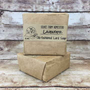 Classic Lard Soap - Lavender Old-Fashioned Lard Soap, Old-Time Soap for Everyday & Gifts