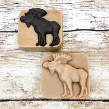 Goat Milk Lard Soap, Spiced Tobacco Wild Animal Goat Milk Farm Soap with Pastured Lard, Buffalo Bear Moose Owl Soaps, Great for Men and Kids