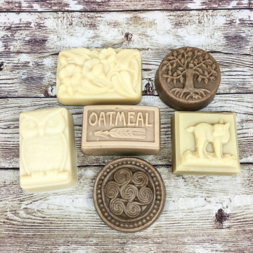 6-Pack Handmade Goat Milk Soap Molded Bars,  Variety Pack of Handcrafted Goat Milk Soap, Discounted Soap for Gifts or Everyday