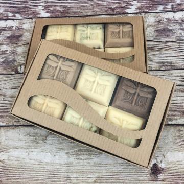 Gift Set, Handmade Goat Milk & Lard Soap, Variety Pack of Six 2 oz Dragonfly Soaps