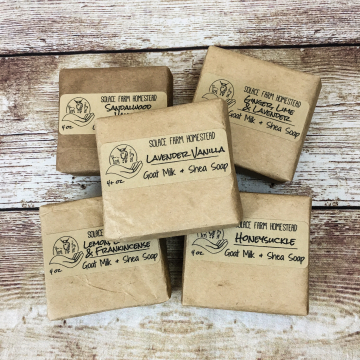6-Pack Handmade Goat Milk Soap Square Bars, Variety Pack of Handcrafted Goat Milk Soap, Discounted Soap for Gifts or Everyday