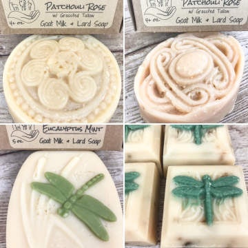 Seconds, Handmade Goat Milk Soap, Pastured Lard Farm Soap, Discounted Less-Than-Perfect Soaps of All Kinds